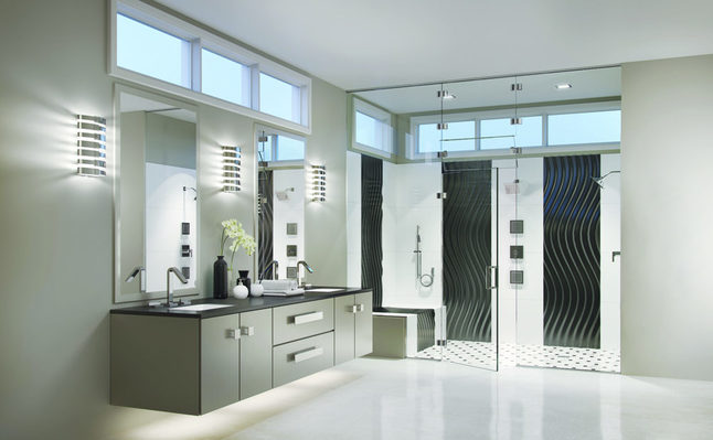 Basco Geolux Shower Enclosure & Custom Shower Faucets
